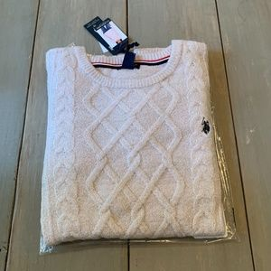 U.S. Polo Assn.Crew Neck Sweater Pink/Silver Large